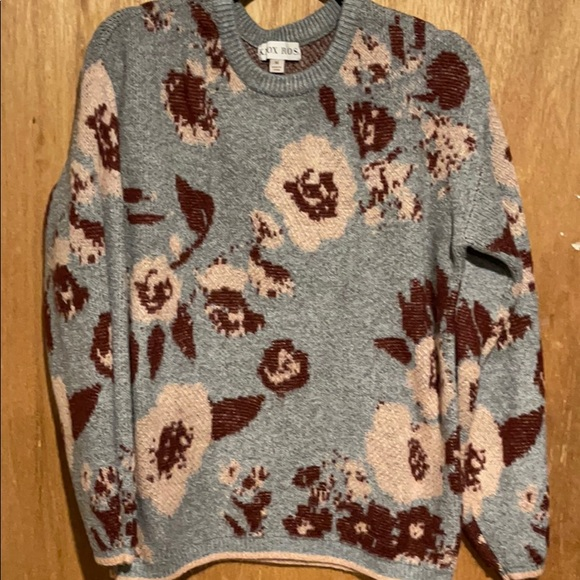 Long-sleeved Floral Sweater
